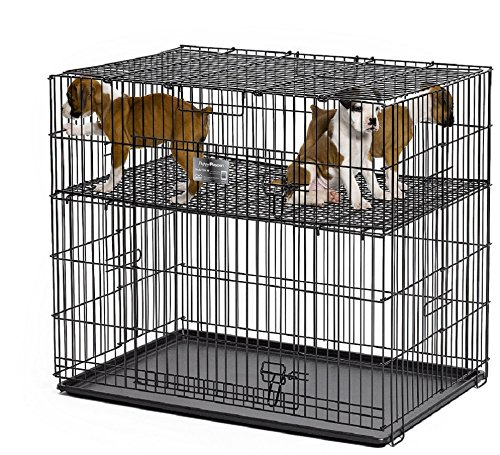MidWest Puppy Playpen with 1 Inch Mesh Floor Grid, 24