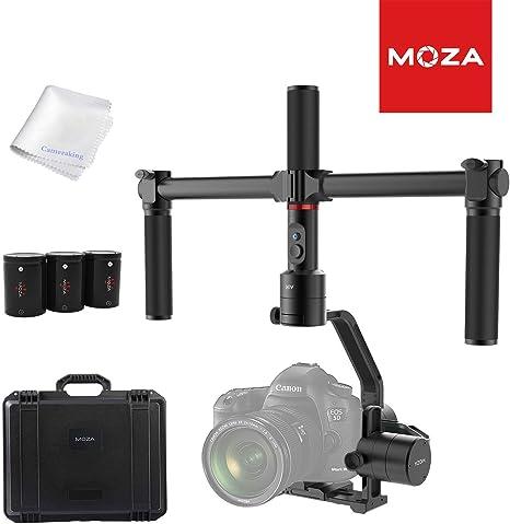 MOZA - Estabilizador de cámara de aire de 3 ejes + doble asa para ...