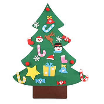 kicode creative christmas tree set door wall hanging xmas decorations ornaments diy gift party supply