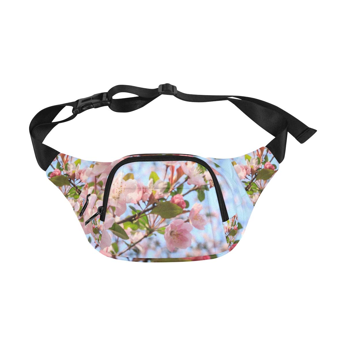Beautiful Pink Flower In Spring Fenny Packs Waist Bags Adjustable Belt Waterproof Nylon Travel Running Sport Vacation Party For Men Women Boys Girls Kids