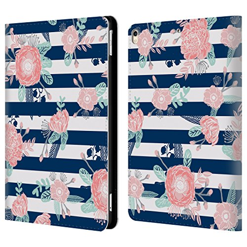 (Official Charlotte Winter Peony Stripes Floral Leather Book Wallet Case Cover For Apple iPad Pro 10.5 (2017))