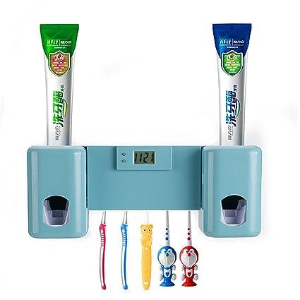 Dispensador automático de pasta de dientes Con 5 soportes para cepillos de dientes, para adultos
