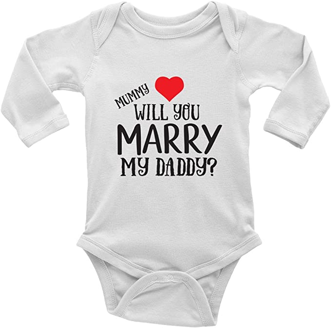baby vest boys girls MUMMY WILL YOU MARRY MY DADDY
