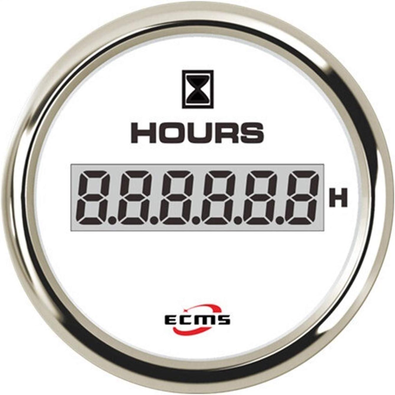 Electronic measuring equipment 52mm Engine Generator Hour Meter Gauge12V 24V With Backlight Mutiple Backlight