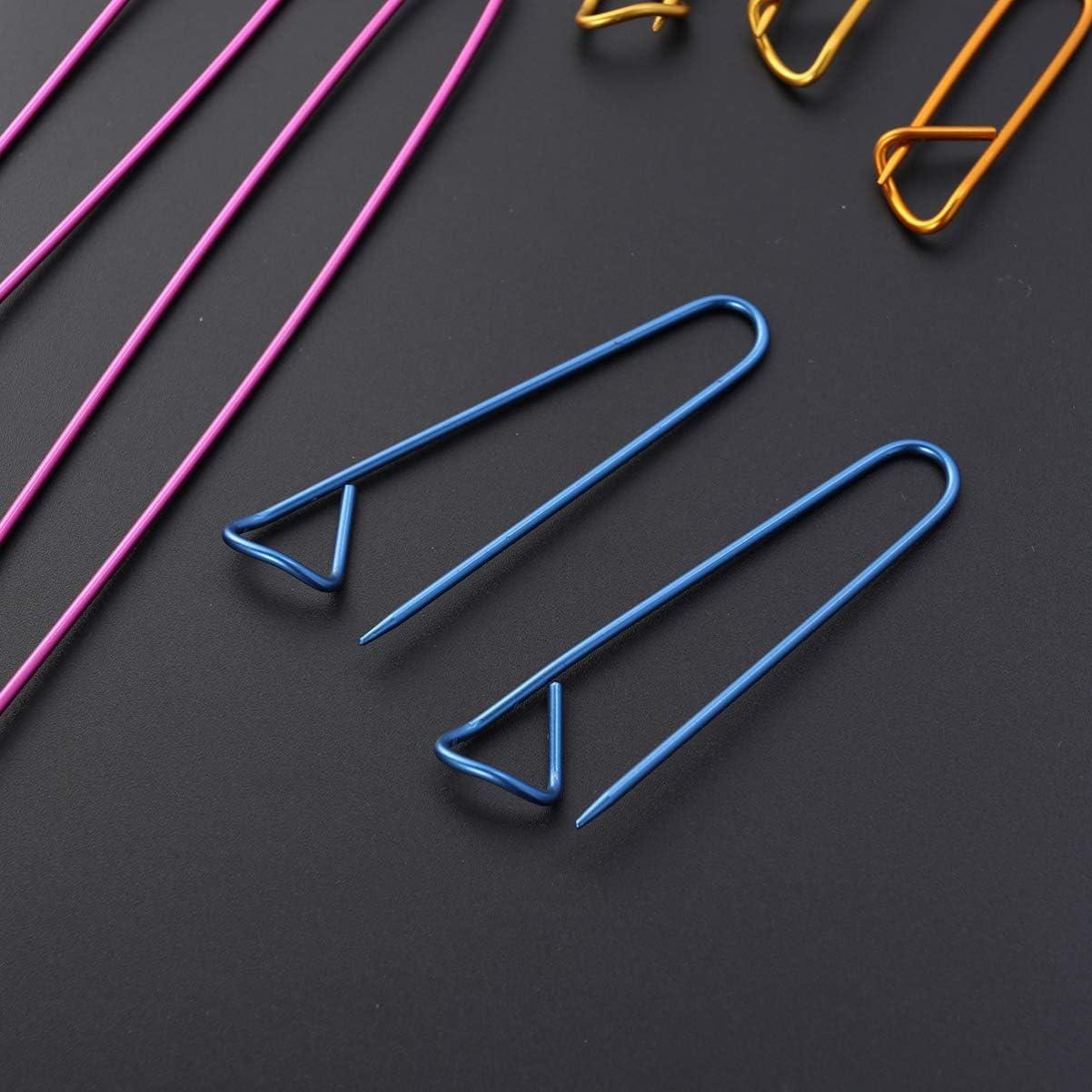 non-branded 10 Pi/èces de Support de Point 5 Tailles de Couleurs Assorties de Supports de Point en Aluminium pour Tricoter