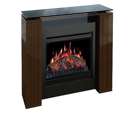 "EWT Insert 20"" Interior Log Insert Fireplace Eléctrico Negro - Chimenea (533 mm,"