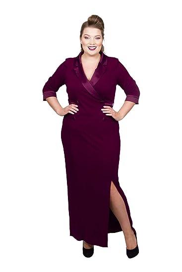 104ee8e009c Scarlett   Jo Tuxedo Maxi Dress Sizes 10-32  Gifi Fields  Amazon.co ...