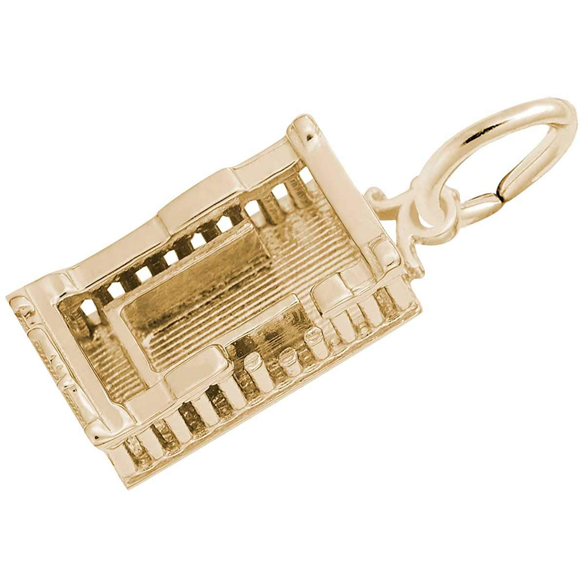 Rembrandt Charms Parthenon Charm, Gold Plated Silver