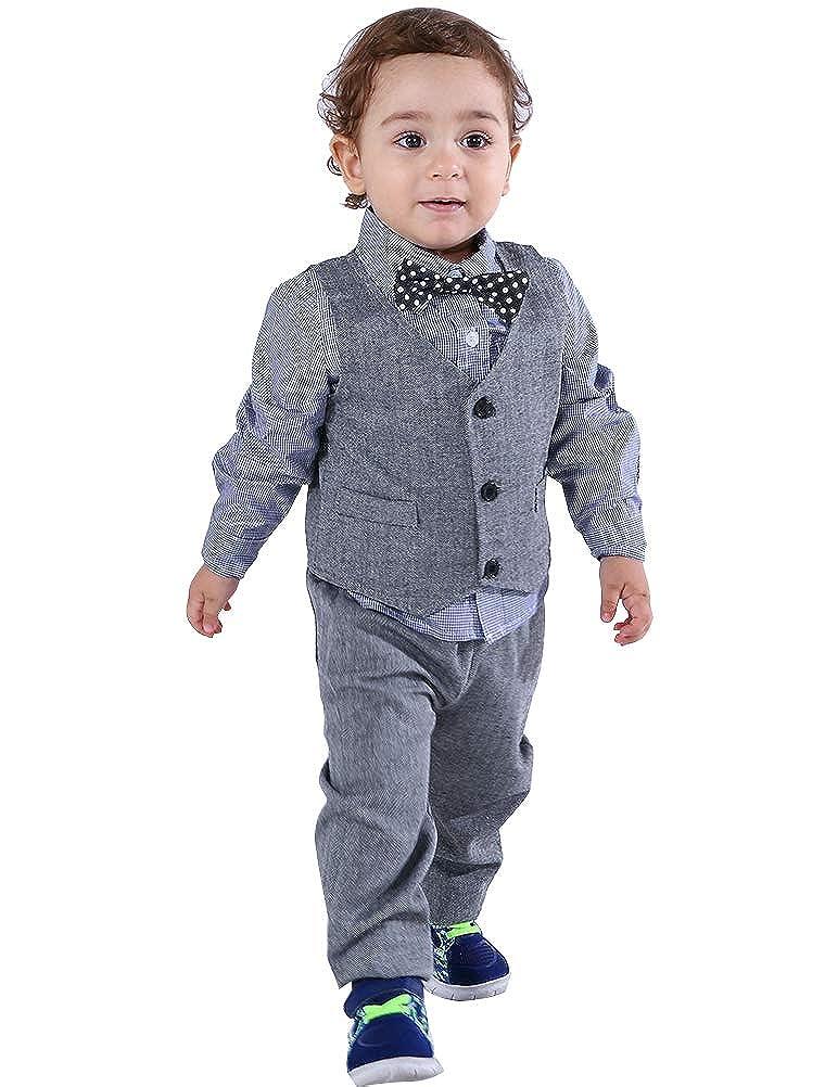 9f707265d1c4 Amazon.com  Abolai Baby Boys  3 Piece Vest Set with Shirt