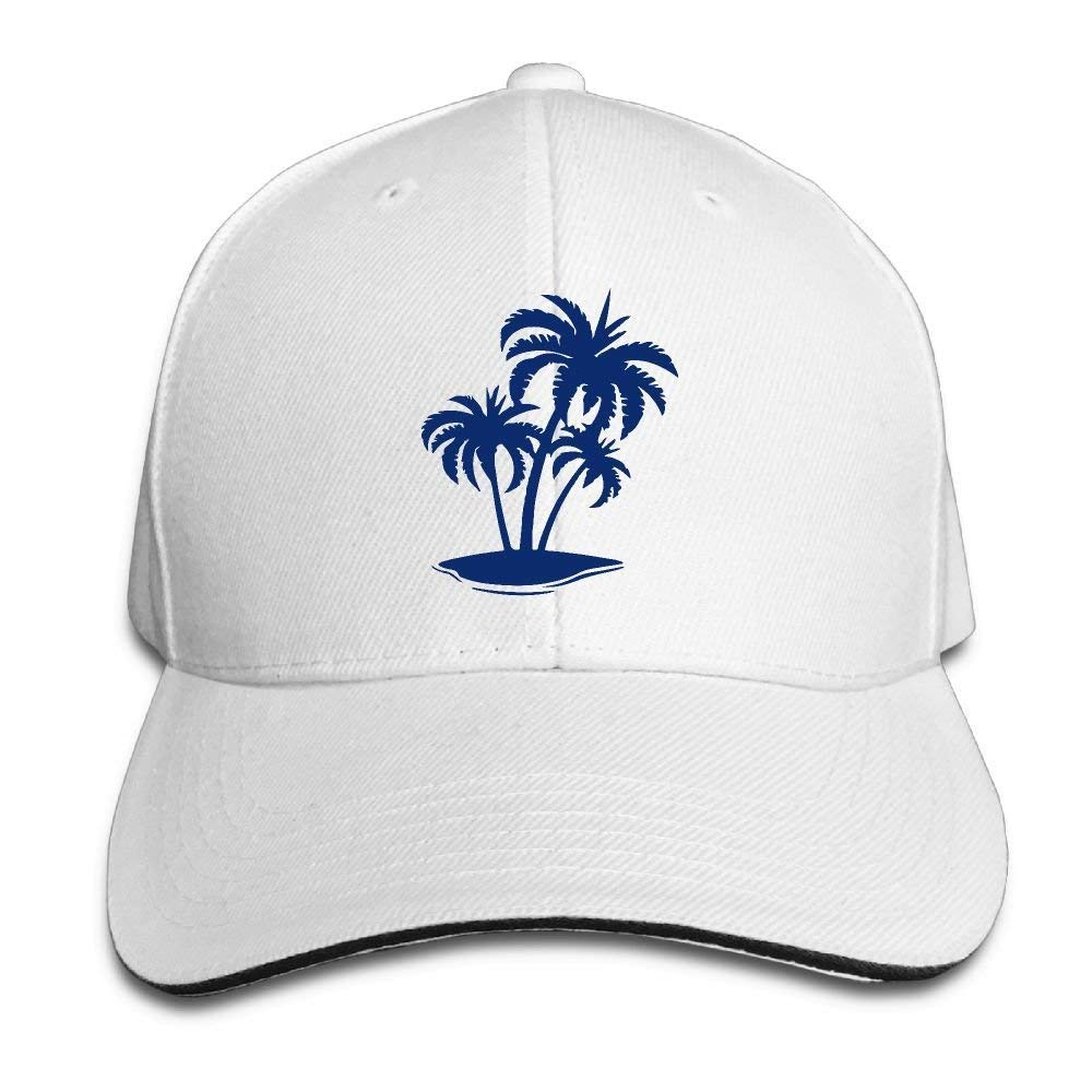 Ausy Man Boys Adjustable Truck Baseball Caps Sandwich Palm Tree and  Tropical Island Cotton Golf Gym Hats at Amazon Men s Clothing store  f0c3373b232