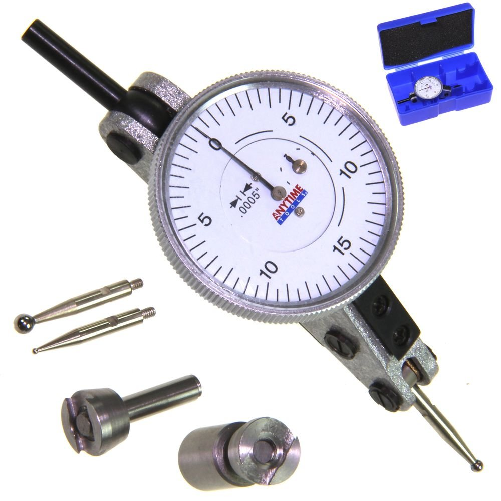 Anytime Tools DIAL TEST INDICATOR 2-way Horizontal Extended Range +/-0.060''/0.0005''