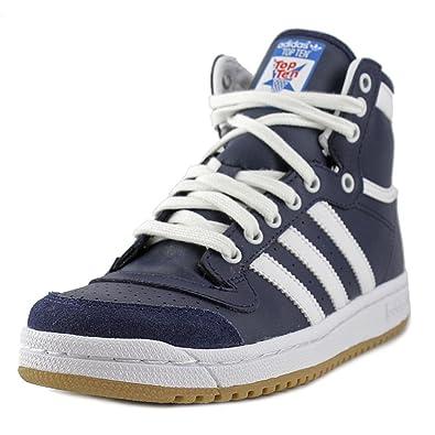 81e66180d03f6 Adidas Originals Top Ten Hi J Boys  Basketball Shoes D74480 New Navy  Running White 5.5
