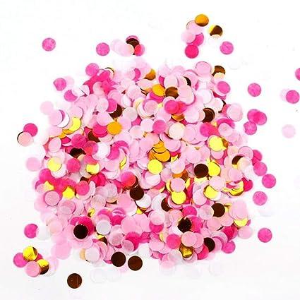 5 paquetes de confeti de oro rosa con lentejuelas redondas para decoración de aulas, para