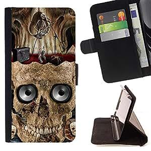 - Skull Devil Diablo - - Prima caja de la PU billetera de cuero con ranuras para tarjetas, efectivo Compartimiento desmontable y correa para la mu?eca FOR Samsung Galaxy Note 3 III N9000 N9008V N9009 King case