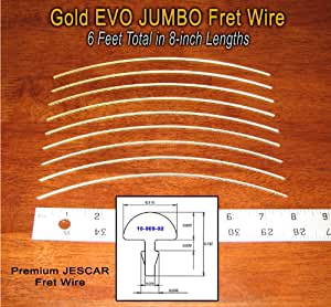 guitar bass fret wire jescar gold jumbo size six feet musical instruments. Black Bedroom Furniture Sets. Home Design Ideas