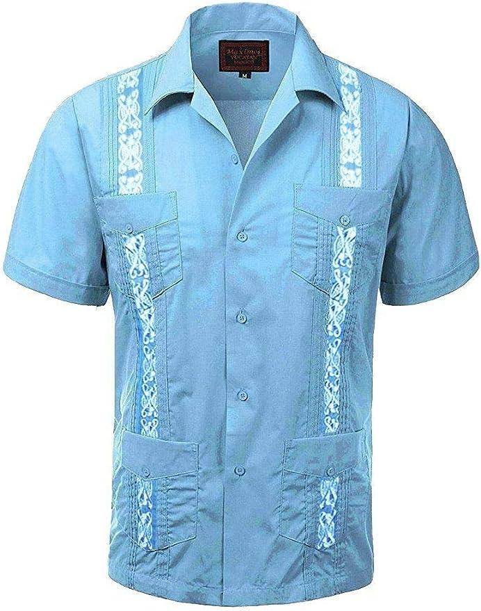 Maximos Yucatan Guayabera - Camisa de Vestir para Hombre, Dos ...