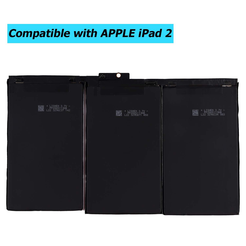 A1397 avec kit doutils Upplus A1376 Batterie de Rechange pour iPad 2 2/ème g/én/ération A1395 A1396