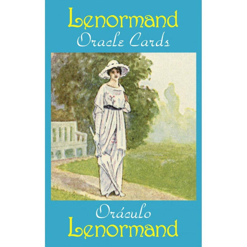 Lenormand Oracle Cards, 36 Cartes de Voyance avec Instruction Multilingue Green Cross Toad