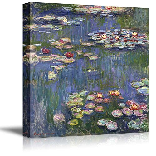 (wall26 - Water Lilies by Claude Monet - Canvas Art Wall Decor - 16