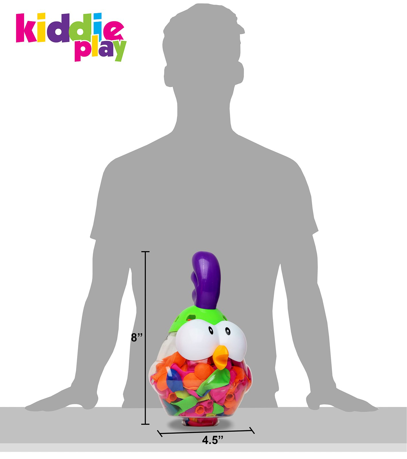 Kiddie Play Water Balloons for Kids with Filler Pump (250 Balloons) by Kiddie Play (Image #4)