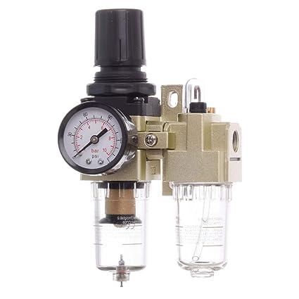 Unidad de mantenimiento de aire comprimido 1/4 reductor de presión Lubricador para compresor Impacto