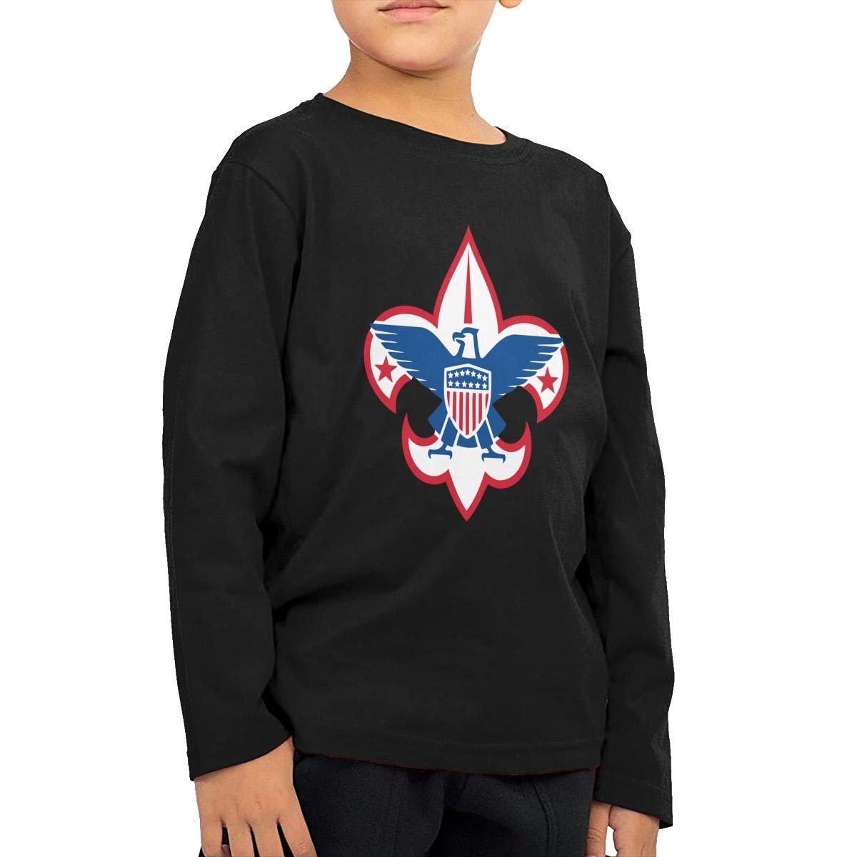 Boy Scouts of America Corporate Childrens Long Sleeve T-Shirt Boys Girls Cotton Tee Tops