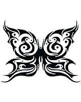 アゲハ蝶のタトゥーシール トライバルバタフライ #1