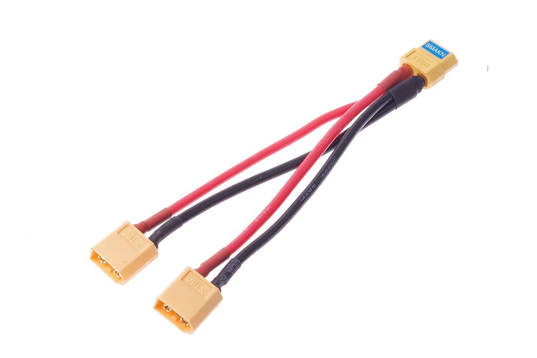 XT60 Parallèle Batterie Connecteur Câble Double Extension Y Splitter Silicone Wire