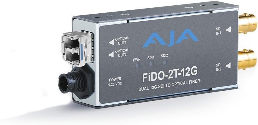 AJA FiDO-2T-12G 2-Channel 12G-SDI to Single-Mode LC Fiber Extender (Transmitter)