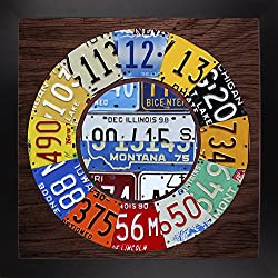 Frame USA Clock Square-DAVBOW124822 Print 11.5x11.5 by Design Turnpike in a Affordable Black Large