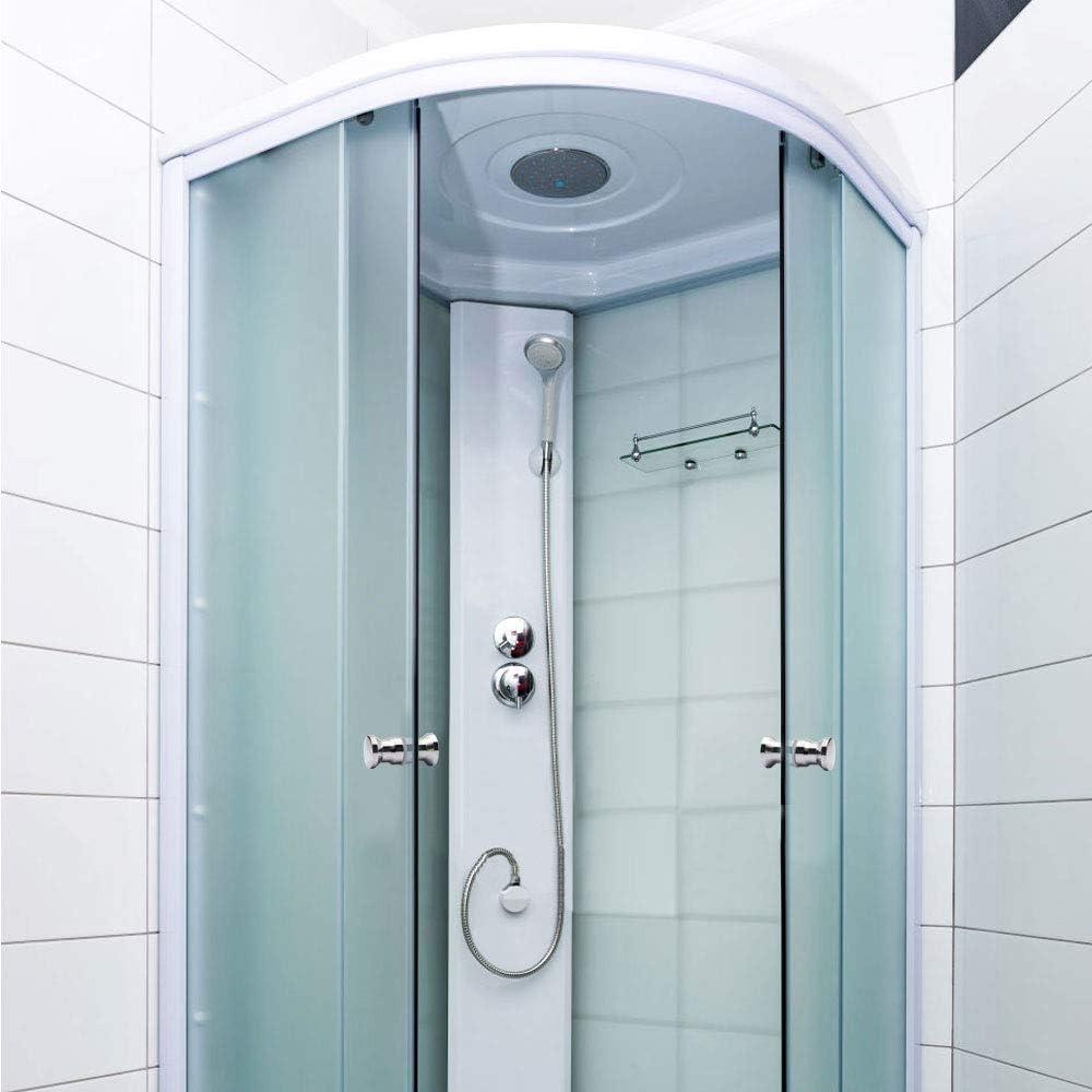 SITGES Grifo de pared para lavabo de ba/ño lat/ón, doble asa en cruz, centro vintage de 8 pulgadas, con v/álvula incluida