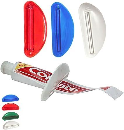 Plastic Toothpaste Tube Squeezer Easy Dispenser Rolling Holder Bathroom Supply /&