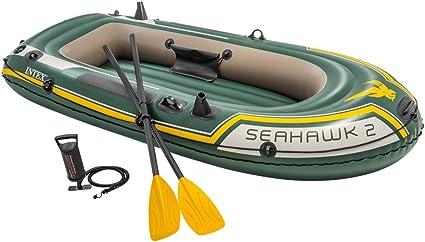 Amazon.com: Intex Seahawk 2, juego de barco inflable para 2 ...