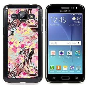 Stuss Case / Funda Carcasa protectora - Rosa Ramos deja el modelo del trullo Flores - Samsung Galaxy J2 / J200
