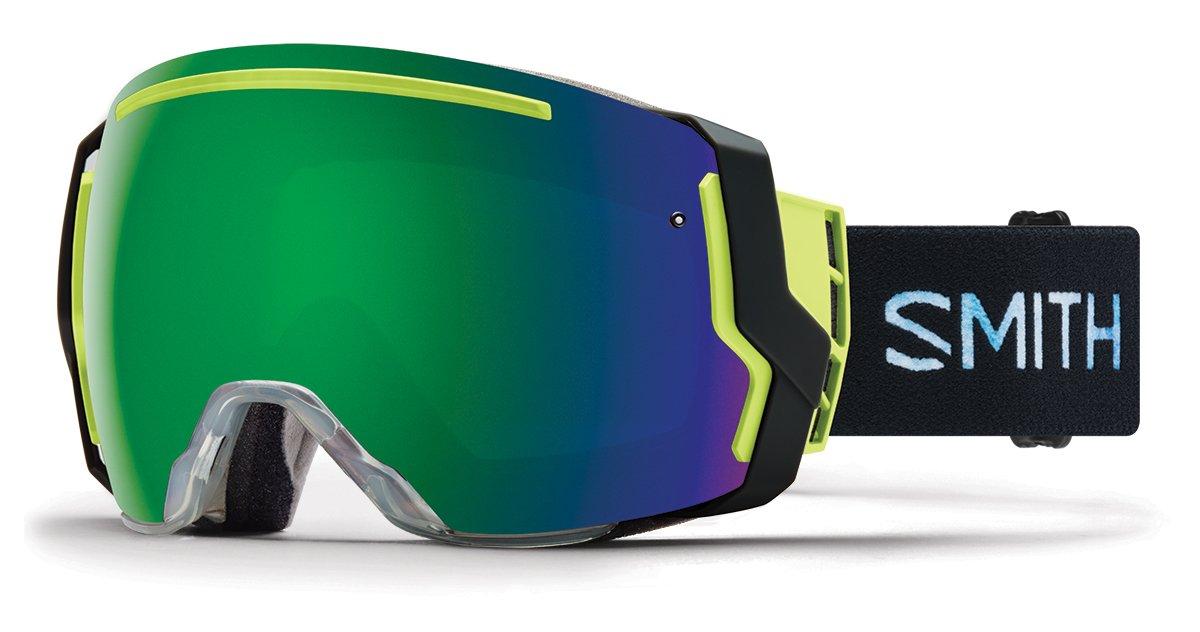 Smith Optics Adult I/O 7 Asian Fit Snowmobile Goggles Squall / ChromaPop Sun Green Mirror by Smith Optics