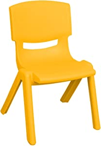 JOON Stackable Plastic Kids Learning Chairs, 20.8x12.5 Inches, The Perfect Chair Sets for Playrooms, Schools, Daycares and Home, Colorful Design (Yellow, 2 Pack)