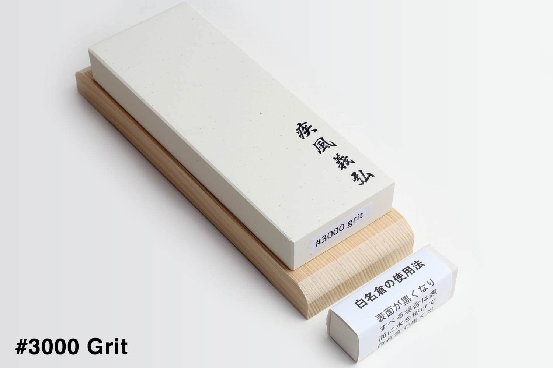 #1000 Yoshihiro Original Japanese Whetstone with Wooden Base