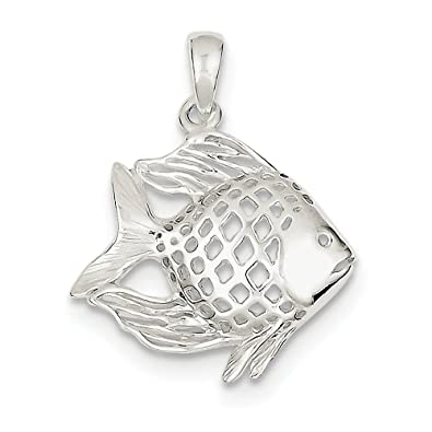 Amazon pendants sterling silver fish pendant jewelry pendants sterling silver fish pendant aloadofball Image collections
