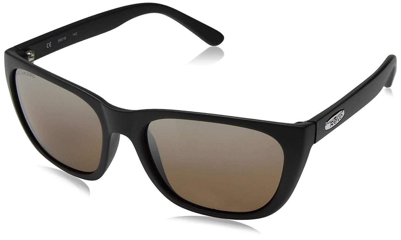 Revo Re 4051 Grand Classic Polarized Square Sunglasses, Black, 58 mm