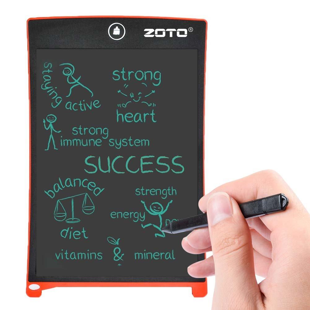 ZOTO デジタルペーパー 8.5インチ電子ノート デジタルメモ 電池付き電子メモ帳 レッド
