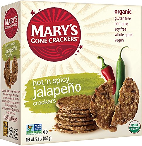 Mary's Gone Crackers Organic Hot N Spicy Jalapeno, 5.5 Ounce