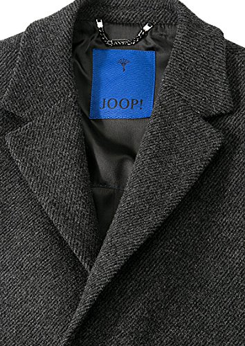 JOOP! Herren Mantel Wolle Warme Jacke Unifarben, Größe: 52, Farbe: Grau