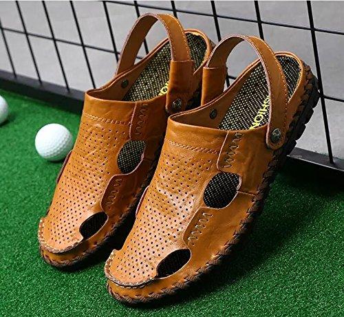Xing Lin Flip Flop De La Playa Nuevo Hombre De Sandalias De Playa De Doble Uso Zapatos Verano Hombres Transpirable Zapatos Casual Zapatillas Sandalias Zapatos Marea De Hombres 8191 brown