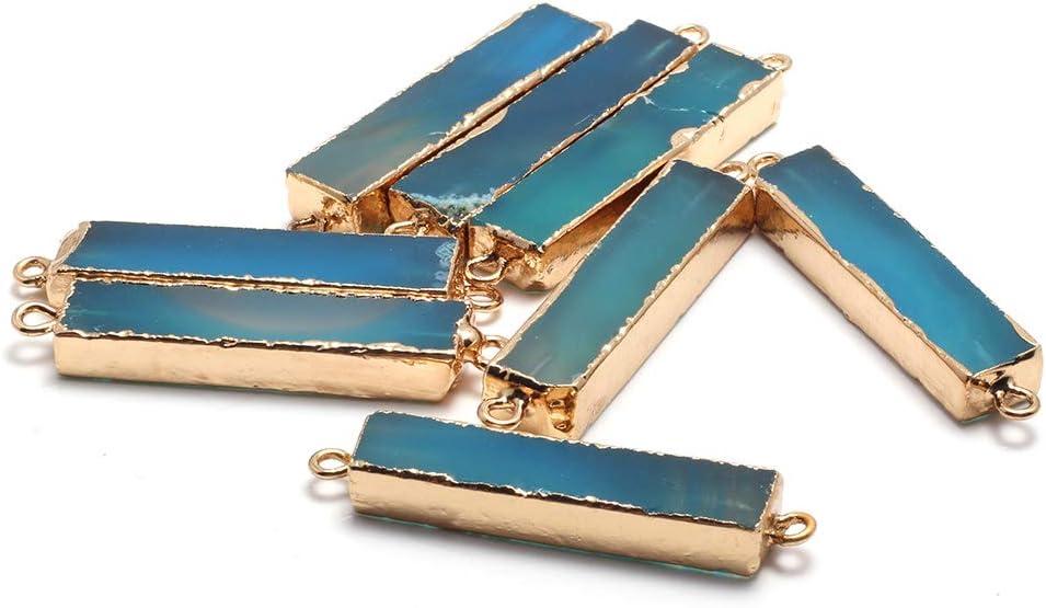 Dyed Blue Gem Teardrop Gemstone Charm 46-50mm Natural Blue Agate Pendant Polished Gem Charm Designer Cab Drilled Large Agate Charm