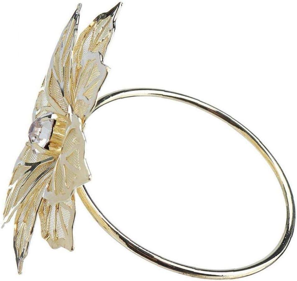 Zonfer 12pcs Anelli di Tovagliolo Tavolo Metallo Portatovaglioli Partito Titolare Tovagliolo del Tovagliolo Fibbia Crystal Flower Wedding Decor