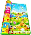 R. K. INTERNATIONAL Playmat Waterproof, Anti Skid, Double Sided Baby Crawling Floor Mat with Zip Bag to Carry for Kids Multicolor (Large Size-120x180 cm) and Design