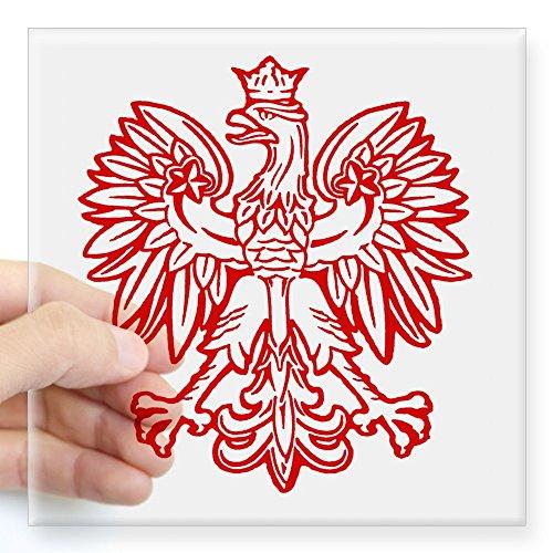 Polish Eagle (CafePress Polish Eagle Emblem Oval Sticker Square Bumper Sticker Car Decal, 3