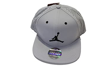 6cf71a9ffad4 Image Unavailable. Image not available for. Colour  Nike Air Jordan Jumpman  Perforated Snapback Hat Grey