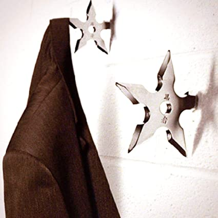Ninja Throwing Star Cap Coat Hooks