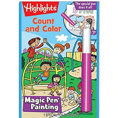 Lee Publications Highlights Magic Pen Painting Color and Count: Toys & Games
